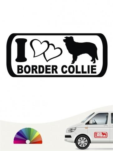 I Love Border Collie Autosticker anfalas.de