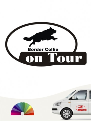 On Tour Border Collie Aufkleber anfalas.de