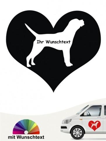 Border Terrier Herzmotiv mit Wunschtext anfalas.de