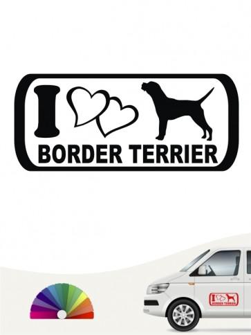 I Love Border Terrier Autoaufkleber anfalas.de