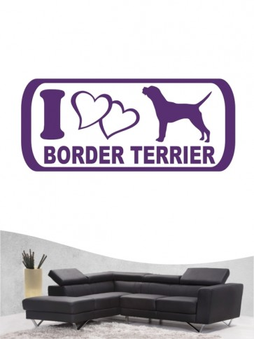 Border Terrier 6 - Wandtattoo