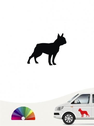 Hunde-Autoaufkleber Boston Terrier 1 Mini von Anfalas.de