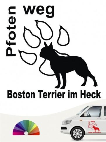 Boston Terrier Pfoten weg Aufkleber anfalas.de