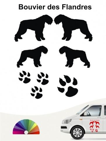 Hunde-Autoaufkleber Bouvier des Flandres 12 von Anfalas.de
