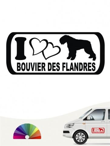 I Love Bouvier des Flandres Autosticker anfalas.de