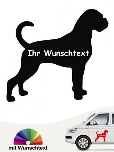 Boxer Hundeaufkleber mit Wunschname anfalas.de