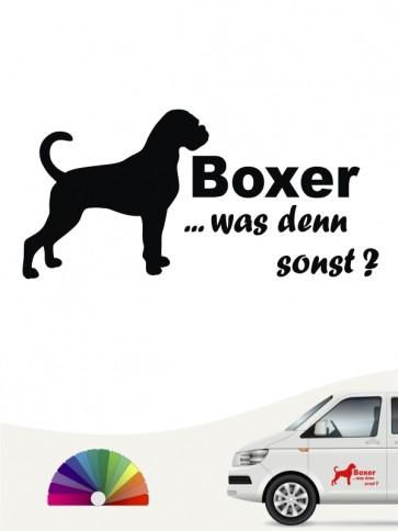 Boxer was denn sonst Hundeaufkleber anfalas.de