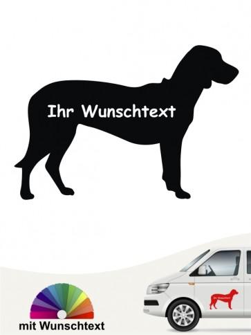 Brandlbracke Silhouette mit Wunschtext anfalas.de