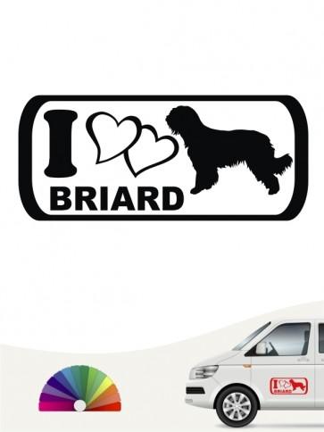I Love Briard Autosticker anfalas.de
