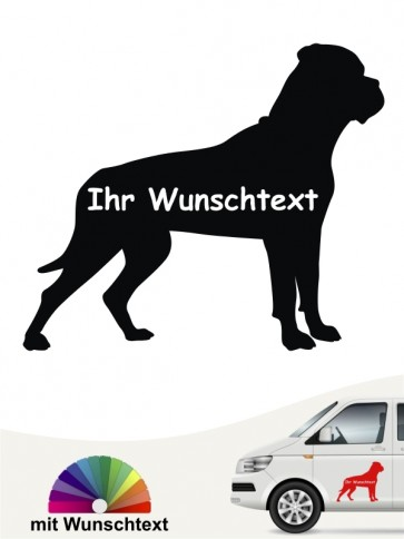 Bullmastiff Silhouette mit Wunschtext anfalas.de