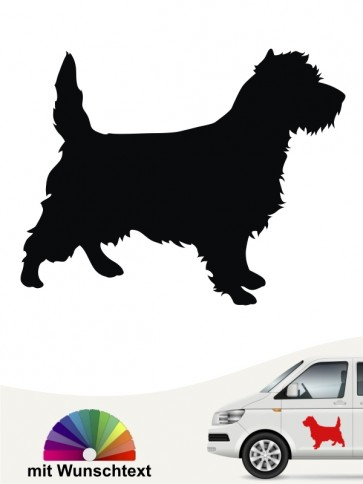 Cairn Terrier Hundeaufkleber mit Wunschtext anfalas.de