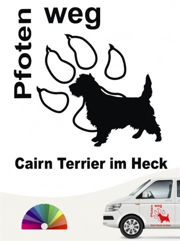 Cairn Terrier Pfoten weg Aufkleber anfalas.de