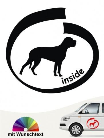 Cane Corso inside Hundeaufkleber mit Wunschtext anfalas.de