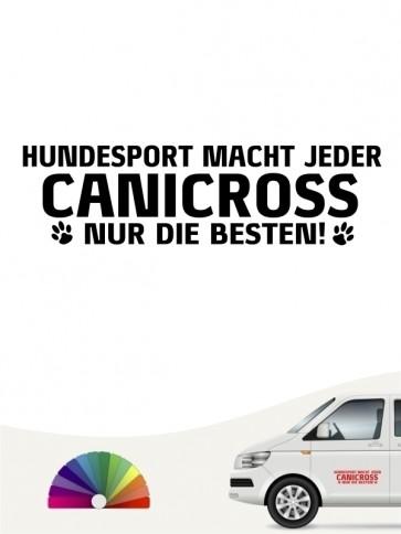 Hunde-Autoaufkleber Canicross nur die Besten von Anfalas.de