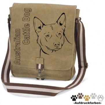 """Canvas Tasche """"Australian Cattle Dog"""" Kopfmotiv von anfalas.de"""