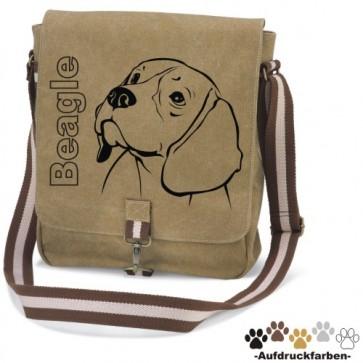 """Canvas Tasche """"Beagle"""" Kopfmotiv von anfalas.de"""