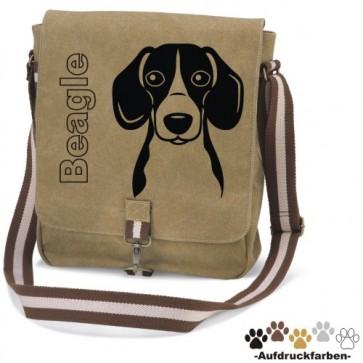 "Canvas Tasche ""Beagle Comic"" Kopfmotiv von anfalas.de"