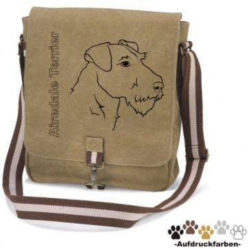"""Canvas Tasche """"Airedale Terrier"""" von anfalas.de"""