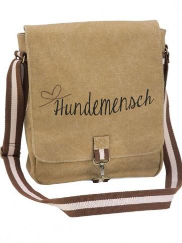 """Canvas-Tasche """"Hundemensch"""" von anfalas.de"""