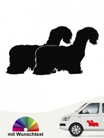Cesky Terrier Hundeaufkleber mit Wunschtext anfalas.de