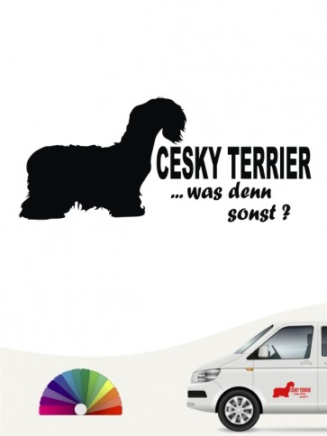 Cesky Terrier was denn sonst Aufkleber anfalas.de
