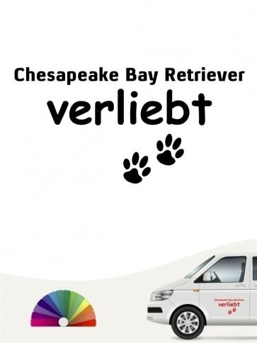 Hunde-Autoaufkleber Chesapeake Bay Retriever verliebt von Anfalas.de