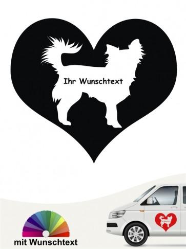 Chihuahua Herzmotiv mit Wunschname anfalas.de
