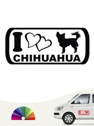 I Love Chihuahua Autosticker anfalas.de