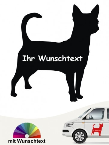 Chihuahua Silhouette mit Wunschname anfalas.de