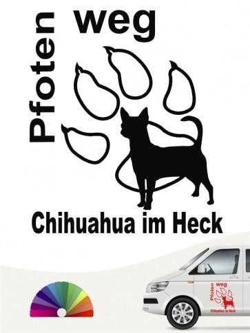Chihuahua Kurzhaar Pfoten weg Aufkleber anfalas.de