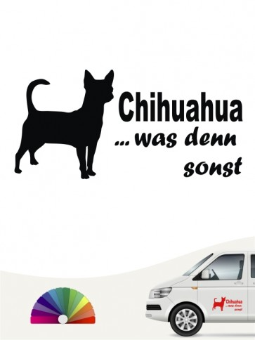 Chihuahua was denn sonst Heckscheibenaufkleber anfalas.de