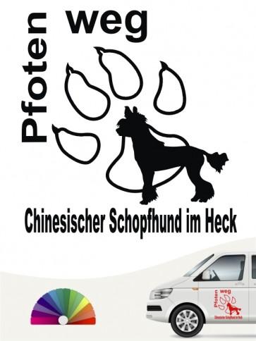 Chinesischer Schopfhund Pfoten weg Aufkleber anfalas.de