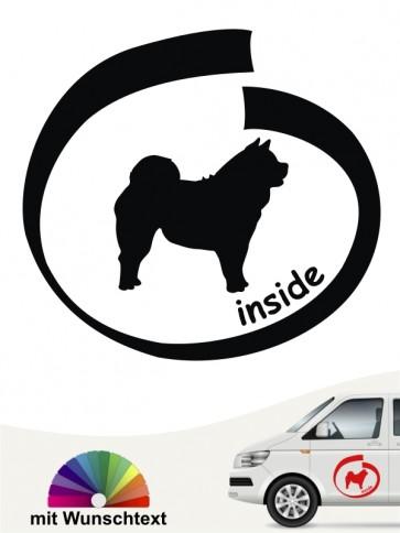 Chow-Chow inside Hundeaufkleber mit Wunschtext anfalas.de