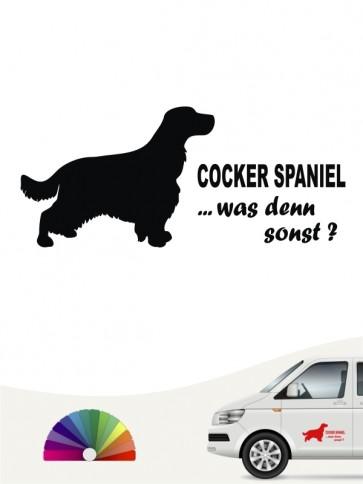 Cocker Spaniel was denn sonst Autoaufkleber anfalas.de