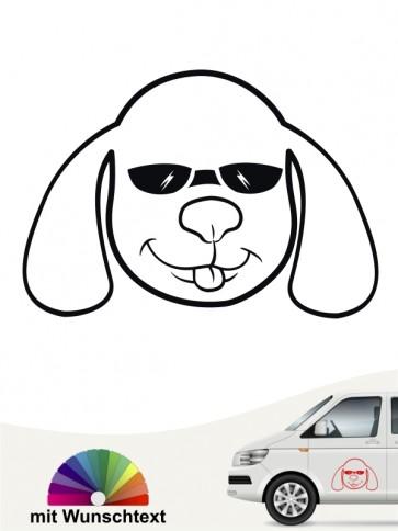 Comic Hund Heckscheibenaufkleber von anfalas.de