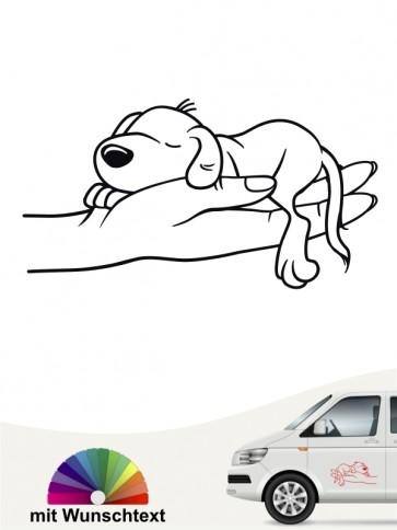 Hundecomic Autoaufkleber von anfalas.de