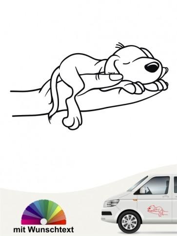 Comic Hund Sticker mit Wunschname von anfalas.de