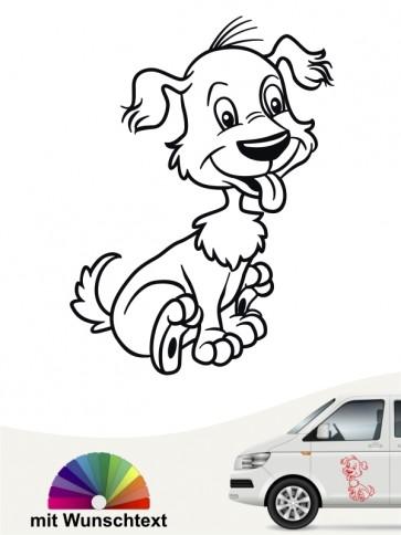 Comic Hund Autosticker von anfalas.de