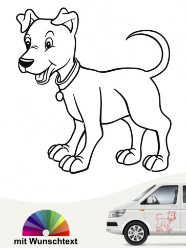 Hundecomic Heckscheibenaufkleber von anfalas.de