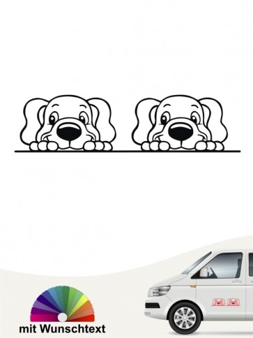 Comic doppel Hundeköpfe mit Wunschtext von anfalas.de