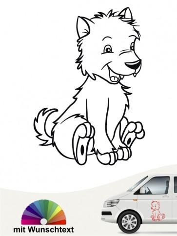 Comic Hunde Autoaufkleber von anfalas.de