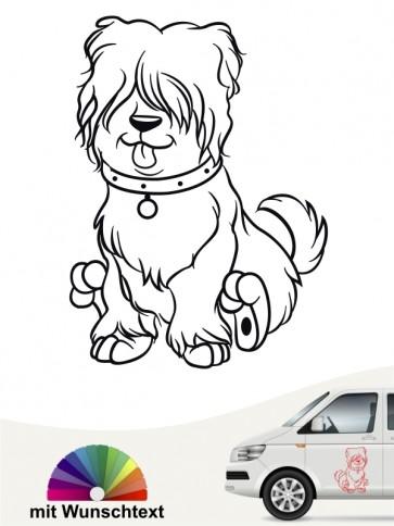 Hunde Comic Autosticker von anfalas.de