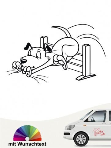 Hundesport is fun Aufkleber lustig von anfalas.de