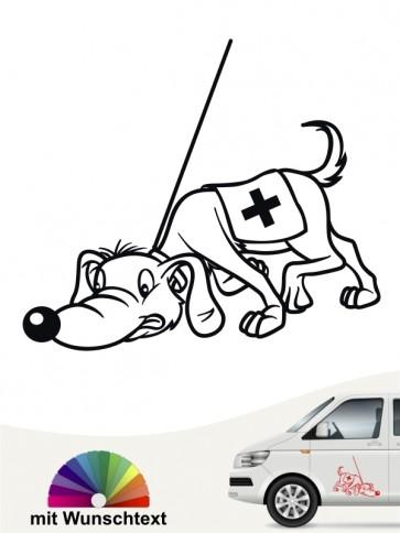Suchhund Comic Autosticker von anfalas.de