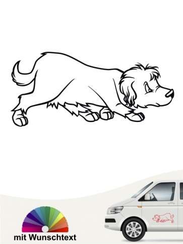 Comic Hundesticker von anfalas.de
