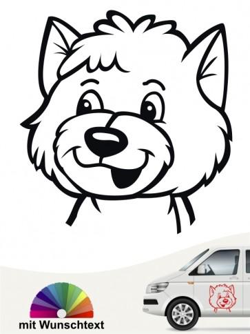 Comic Hundekopf mit Wunschtext von anfalas.de