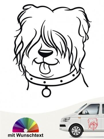 Comic Hund mit Wunschname von anfalas.de