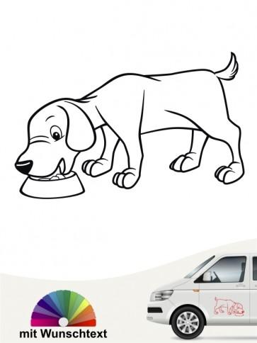 Comic Hundeaufkleber von anfalas.de