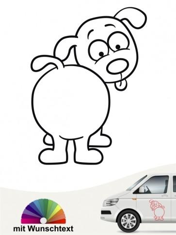 Hunde-Autoaufkleber Comic 87 von Anfalas.de