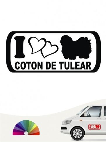 I Love Coton de Tulear Hundeaufkleber anfalas.de
